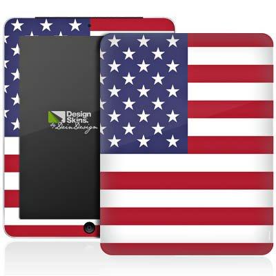 Apple iPad 1 Aufkleber Schutz Folie Design Sticker Skin Amerika USA Flagge Fußball (Flag Usa Kit)