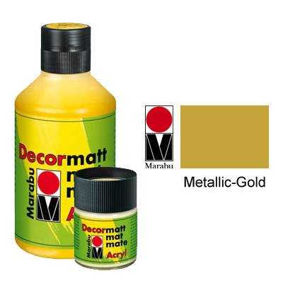 Marabu Decormatt Acryl, Metallic-Gold 784, 50 ml (Gold-metallic-wandfarbe)
