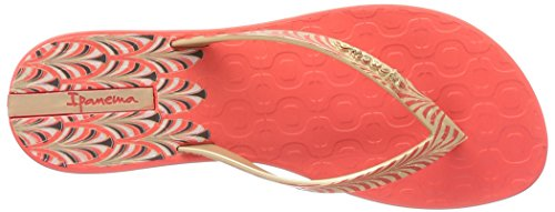 Ipanema Art Deco Damen Zehentrenner Rot - Rouge (21240 Red/Gold)