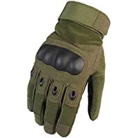 Cvthfyk Tactical Full Finger Gloves Guantes Antideslizantes Ciclismo al Aire Libre Fitness Guantes de protección Militares Militares Full Finger Gloves (Color : Army Green, Size : M)