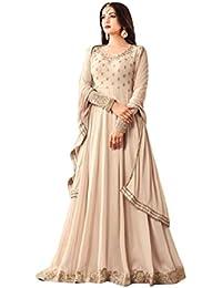 ETHNIC EMPORIUM Muslim Women Último Diseñador Anarkali Salwar Kameez Floor Tocando Traditonal Pakistan ...