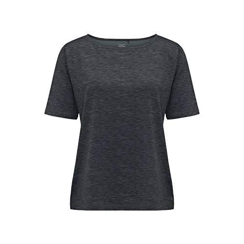 Venice Beach Damen T-Shirt Fina Curvy Fit 41036 AOP Stripe Mel. Balsam Green 48 (Damen T-shirt Beach Fit)