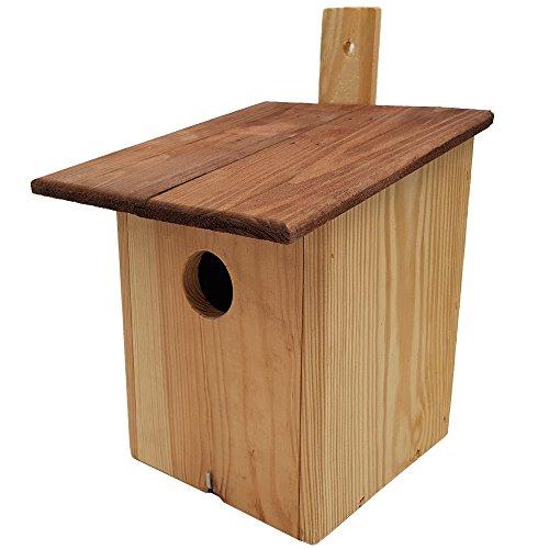 PROHEIM Nistkasten 20 x 14 x 14 cm Vogelnistkasten aus 100% FSC Holz Nisthaus Vogelhaus zum Aufhängen Vogelhäuschen mit Öffnung für einfache Reinigung