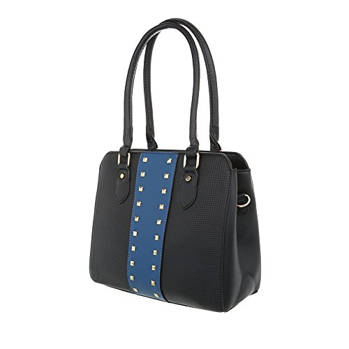 Borsa A Tracolla Media Donna Ital-design In Similpelle Ta-k679 Nero Blu