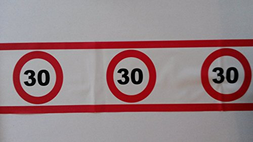 Preisvergleich Produktbild Absperrband 30 igster Geburtstags-Deko-rot-weiß-Polizei-Band-Idee vom Sachsen Versand