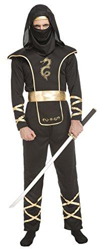 My Other Me - Disfraz de ninja para hombre, color negro, M-L (Viving Costumes 204890)