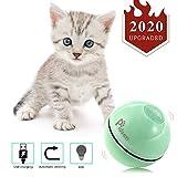 Pidsen Gatto Palla Automatica, Giocattolo Interattivo per Gatto Sfera per Gatti Automatica Rotazione e Ricaricabile USB, Giocattolo Gatto Palla per Animali Domestici