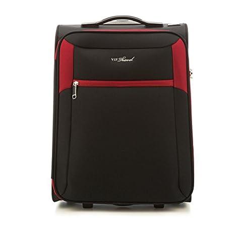 WITTCHEN Reisekoffer Trolley 18 Koffer, 20x53x38 cm, Rot/schwarz, 32 Liter, Größe: klein, S, Polyester, TSA Zahlenschloss, (Schwarz 18 Wheels)