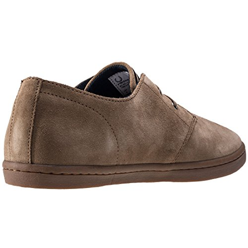 Fred Perry Byron Low Suede Almond Brown Stone B7401D83, Basket Marron