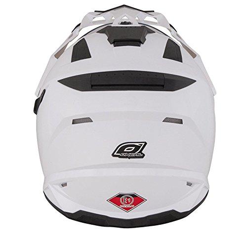 O'Neal Sierra Snow Weiß Motorrad Helm Enduro Moto Cross Dual Sport, 0816-20, Größe Small (55 - 56 cm) - 3