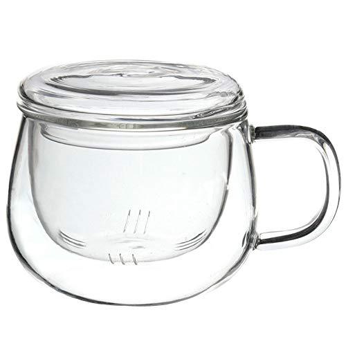 Durable 3 In 1 Satz 320 Ml Klar Hitzebeständige Tee Kaffeetasse Mit Tee-Ei Filter Deckel Verwenden Für Home Office ()