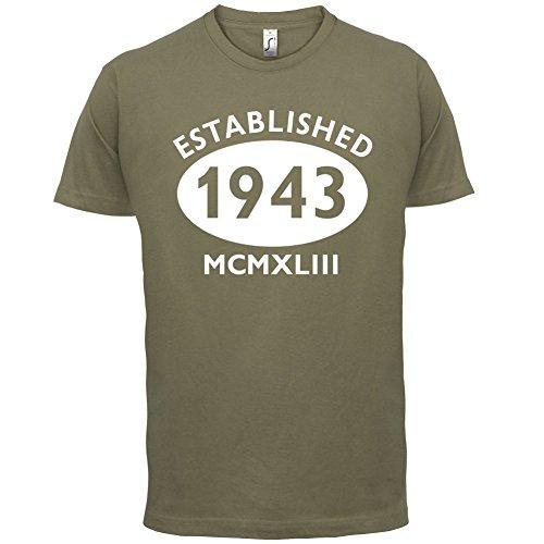 Gegründet 1943 Römische Ziffern - 74 Geburtstag - Herren T-Shirt - 13 Farben Khaki