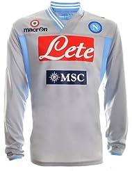 SSC Napoli Camiseta de portero m/l 2012/13 Macron gris Talla:Small
