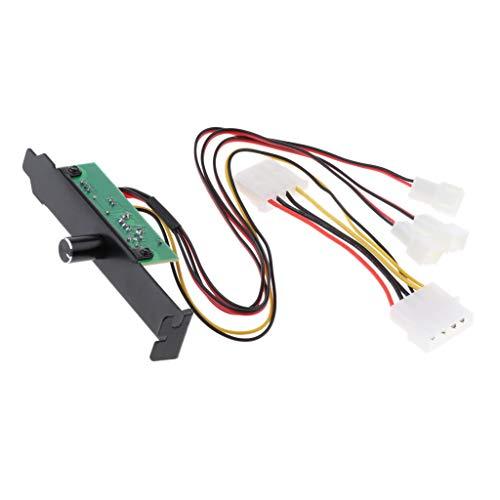 F Fityle Computergehäuse CPU Lüftersteuerung 4 pin 12V 20W, CPU Fan Speed Controller (4-polig-computer Desktop-fan)