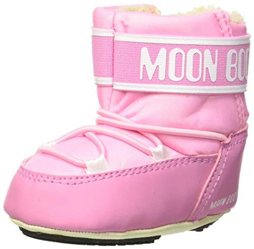 Moon-boot Crib 2, Bottes de Neige Mixte Enfant, Rose (Rosa 004), 17/18 EU