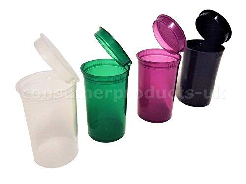 (Ccpuk Exklusive) 30x 13Dram Pop-Top-Behälter, für Tabletten, hochwertige Behälter, medizinisch, mit Stickern, + 3 CPUK Sticker (Top-glas Snap)
