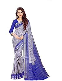 Miraan Women's Kora Silk Saree With Blouse Piece (Sdex9049,Blue,Free Size)