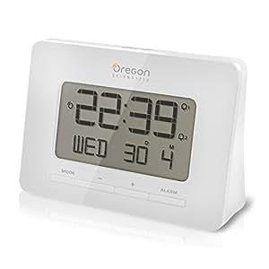 Oregon Scientific RM938 - Réveil de voyage avec double programmation d'alarme blanc