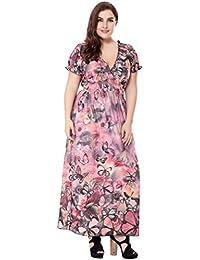 37037625da9fd0 Lukis Damen Große Größen Langes Kleid Blumen Sommerkleider Böhmischen  Strand Maxikleid