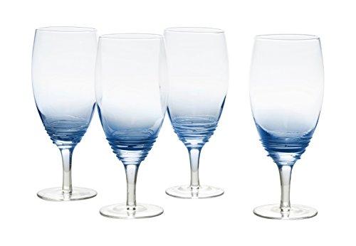 Mikasa Swirl Cobalt Iced Beverage Drinkware (Set of 4), 22 oz, Blue by Mikasa Mikasa-swirl