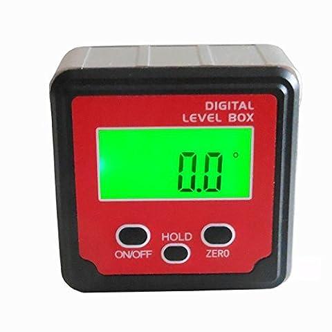 Digital à 360° (+/-180°) Jauge d'angle Mètre Rapporteur Bevel Box inclinomètre avec solide Aimants Disques Tlb-10