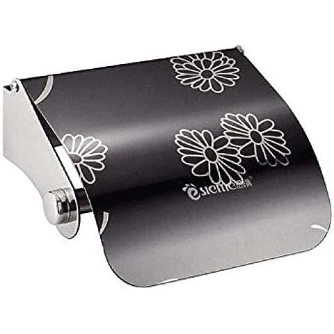 QUEEN'S Grossman Baño Baño mano Bandeja Bandeja de Acero Inoxidable tambor rollo de papel higiénico Cassette Bandeja porta papel higiénico ,