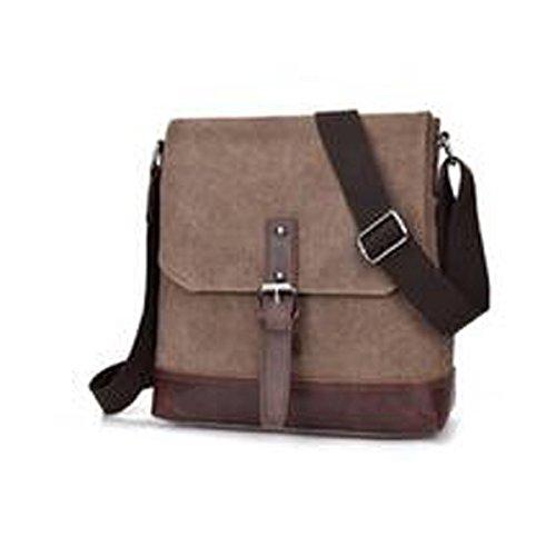 Männer Retro-Sturdy Dauerhaft Beiläufige Quadratische Tasche Einzelne Schulterbeutel Multicolor Coffee
