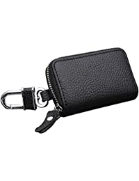 Altopcar Coche clave cadena bolsa clave cadenas funda con cremallera de piel  tipo Smart llavero Monedero bolsa de… 5492270ece4