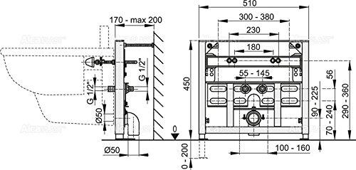 Vorwandmontage-Element für Bidet Höhe 1000mm
