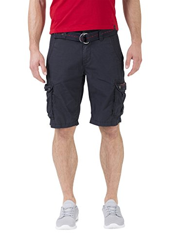 Timezone Herren Shorts Loose Maguire Incl. Belt, Blau (Dark Night Blue 3115), W33
