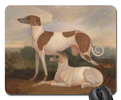 Gaming-Mauspads, Mauspad, Charles Hancock Malerei Kunst Öl auf Leinwand Dogs