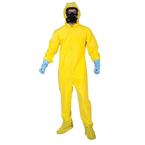 Anzüge Kostüm Hazmat - Hazmat Suit w/mask & gloves Fancy Dress Disease Alert Stag Costume
