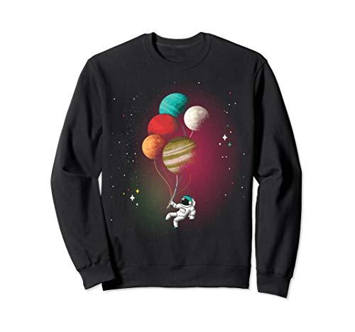 Astronaut Planeten Ballons Weltall Astronomie Universum Spaß Sweatshirt