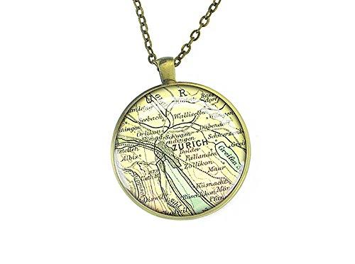 1915-vintage-zurich-vintage-map-necklace-switzerland-bronze-silver-pendant-best-christmas-gift