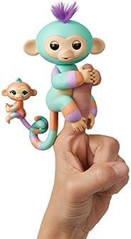 Wow Wee WW - Fingerling Mono + bebé Danny y Gianna, Verde