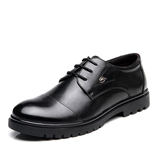 Chaussures de cuir hommes affaires occasionnels rond serre-tête (noir)