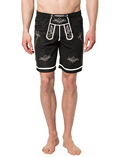 Lower East Herren Badeshorts in Trachten-Lederhosen-Stil, Gr. XX-Large, -