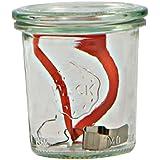 Weck Lot de 6bocaux de 290ml avec un couvercle de 80mm, joint et clips inclus, en verre, transparent