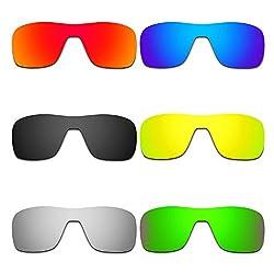 Hkuco Mens Replacement Lenses For Oakley Turbine Rotor Redblueblack24k Goldtitaniumemerald Green Sunglasses
