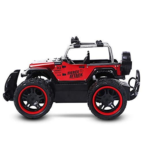 Kikioo RC Auto 4WD High Speed Off Road Fernbedienung 2,4 GHz All Terrain Funkferngesteuerter Monster Truck Lithium Batterie Rock Crawler Legierung Autos Hobby Spielzeug Fahrzeuge Kinder Erwachsene (
