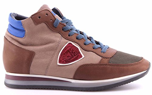 Scarpe High Sneakers Uomo PHILIPPE MODEL Paris Tropez World Brown Cartier Italy