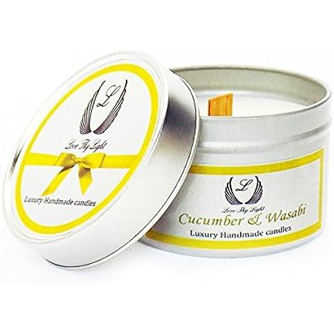 Cetriolo e Wasabi–Piccola candela profumata in barattolo