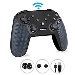 Switch Pro Controller, Switch Controller, Wireless Switch Controller, Funktionen DualShock, Axis Gyro und Turbo Kompatibel für Nintendo Switch