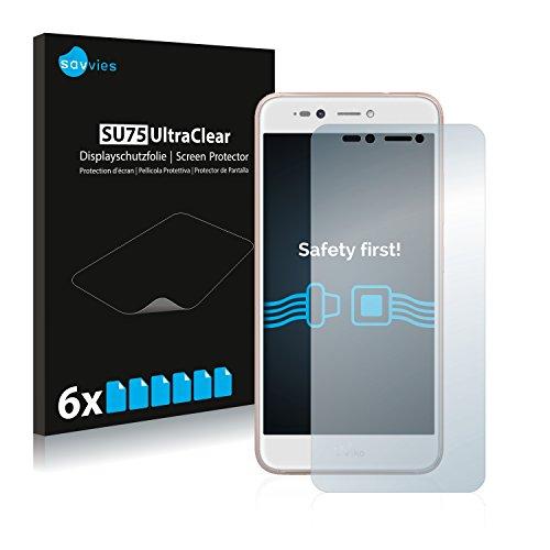 Savvies Schutzfolie kompatibel mit Wiko Upulse Lite [6er Pack] - klarer Bildschirmschutz