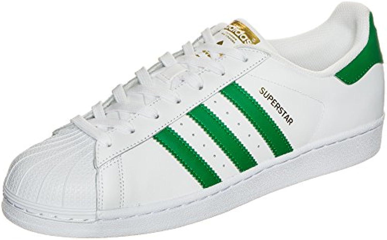 adidas Superstar Herren Sneaker  Weiß  (Ftwbla/Grün/dormet) 36 2/3