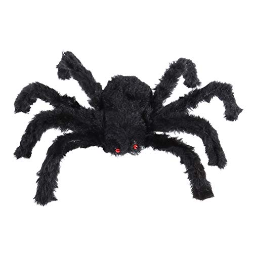 lloween plüsch spinne schwarz große spinne plüschtier Halloween Haus Scary Outdoor innendekoration (schwarz) ()