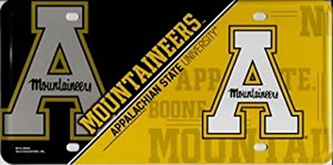 Appalachian State Mountaineers 130503 NEW DESIGN Metal License Plate Tag University of by FanNut.com
