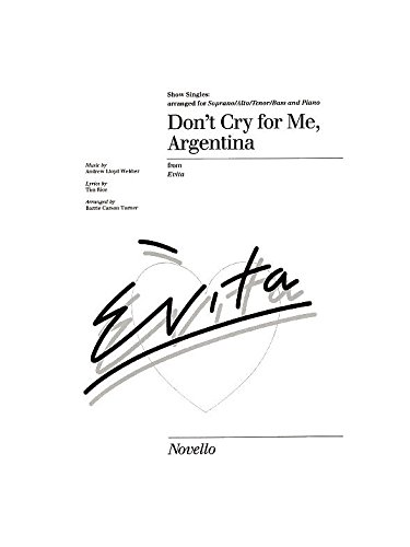 Don'T Cry for Me Argentina Show Singles Chant