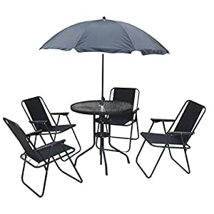 Kingfisher 6 Piece Patio Dining Set - 4 Seater Outdoor