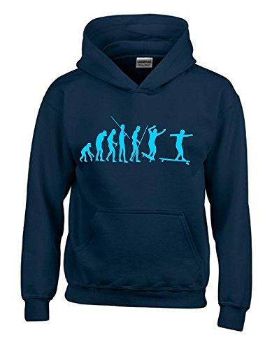 Longboard Evolution Kinder Sweatshirt mit Kapuze HOODIE navy-sky, Gr.152cm